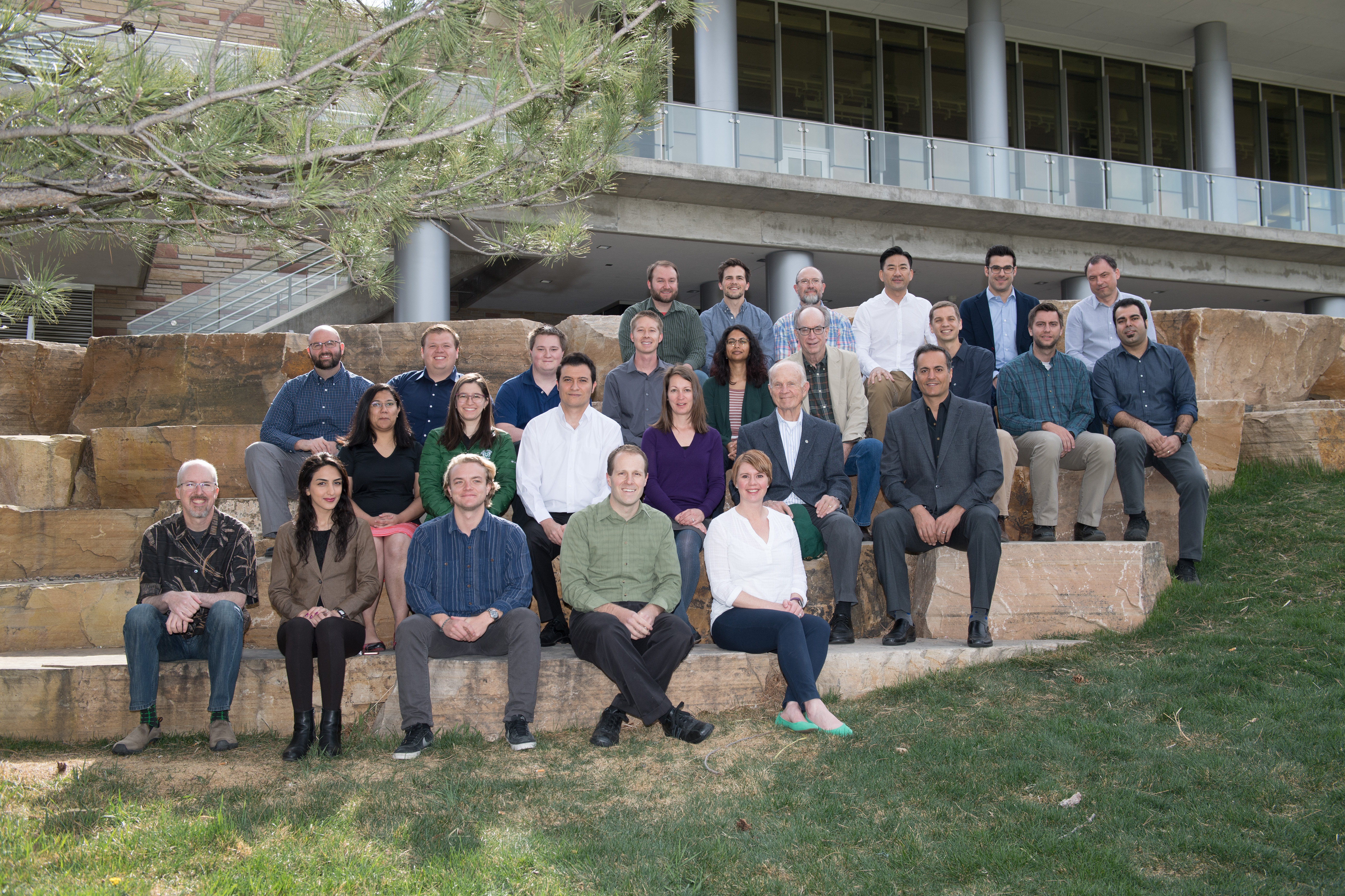 Faculty, staff and graduate students at the One Water Solutions Institute at Colorado State University, April 20, 2018